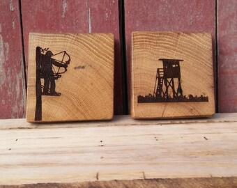 Barnwood HUNTING Coasters (set of 4)