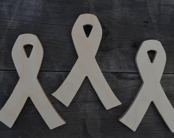 Ribbon, Wooden Ribbon, Ribbon Cut Out, Breast Cancer Ribbon, Wall Art, Wall Hanging, Home Decor