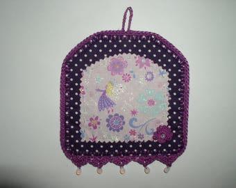 painting fairy fabric, felt and crochet
