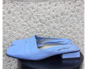 90s Leather Sabot - Vintage Loafers Size 37 EU