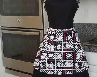 Women's layered Hello Kitty apron