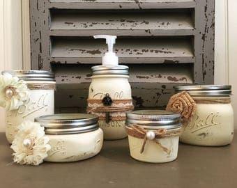 Bathroom Vanity Jars bathroom jar | etsy