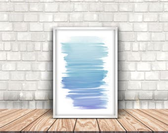 Digital Download Contemporary watercolour wall art. Printable Art, Instant Download, Wall Prints, Digital Art