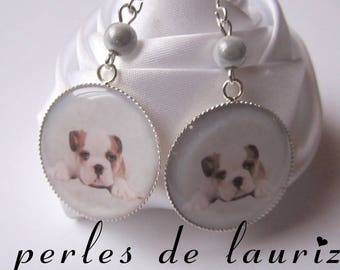 Bulldog dog passion earrings
