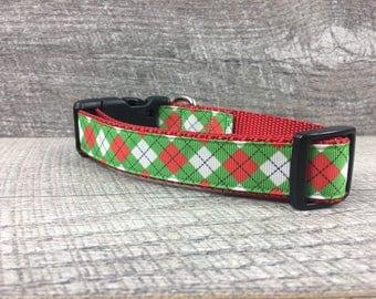 "The Kastner | Designer 1"" Width Dog Collar | CupcakePups Collars | Medium/Large Dog Collar | Christmas"