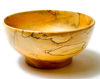 Number 53,Spalted Maple Wood Bowl,One of a Kind, Home Decor,Great Gift Item,House Warming Gift.Office Decor,Donald Erickson,Wood Turning