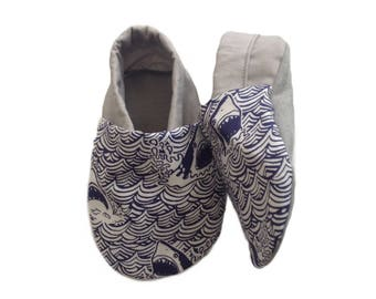 Shark Soft Sole Baby Shoes, booties, pram shoes