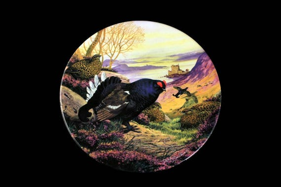 1988 Collectible Plate, Royal Grafton, Game Bird Collection, Black Grouse, Limited Edition, Decorative Plate, Wall Decor, New In Box