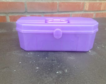 Vintage Lavender Pearlescent Childs Play Make Up Cosmetic Case