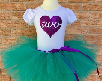 Girl's second birthday outfit, 2nd birthday shirt, Girls 2 year old birthday, turning two tutu, girl's second birthday shirt, two years old