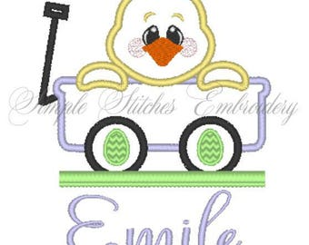 Easter Chick in Wagon