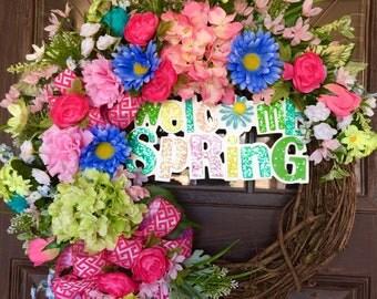 Spring Wreath | Spring Flowers | Grapevine Wreath | Door Wreath | Wreaths on Etsy | Etsy Wreaths