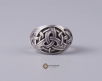 Viking Ring Triquetra Norse Style Viking Jewelry 001-230