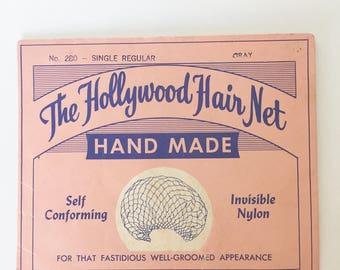 Hollywood Gray Hair Net - True Vintage - 1940s