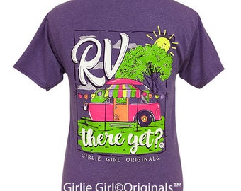 Girlie Girl Originals RV There Retro Heather Purple Short Sleeve T-Shirt