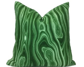 "Robert Allen Abstract Geology Malachite Green Decorative Throw Pillow Cover, Fits 12x18 14x20 16x26 16"" 18"" 20"" 22"" 24"" Cushion Inserts"