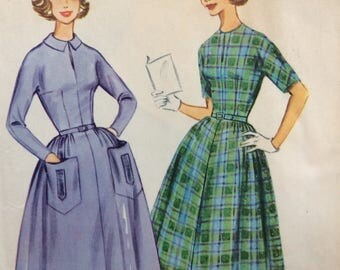 McCall's 5489 misses dress size 14 bust 34 vintage 1960's sewing pattern