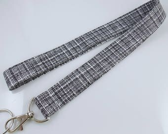 Teacher Lanyard Black and White Lanyard Plaid Lanyard Key Holder Lanyard for Keys Nurse Lanyard Lanyard for Men ID Badge Holder