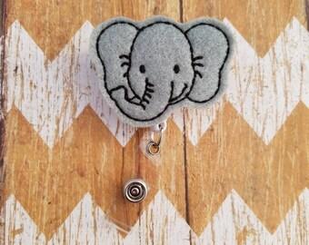 Elephant badge reel, nurses badge reel, medical badge reel, ID badge, badge reel nurse, retractable badge reel, felt badge reel, badge reel