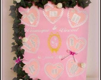 Romantic wedding table plan