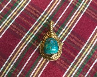 Chrysocolla Amulet Pendant