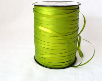 green metallic ribbon, floristry ribbon, floral ribbon, large roll craft tape, big destash