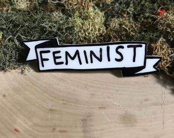 Feminist Banner Pin