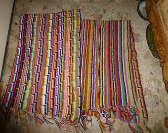 Afghans handmade Apache Tears colorful blankets beloved heirloom pattern