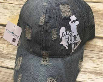Distressed Denim Hat
