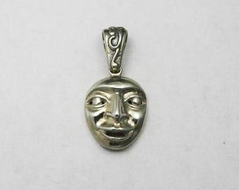Sterling Silver Mask Pendant