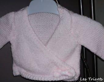 """Vest jacket """"Dancer"""" 3 months hand knitted"""