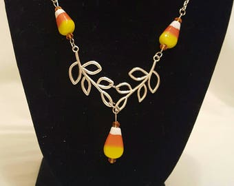 Candy Corn Necklace, Free Shipping