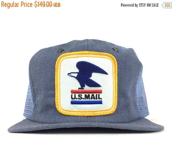 On Sale Now Vintage 80s USPS Postal Mail Letter Carrier Mesh Trucker Hat Cap  Snapback Medium 9230a4d911f