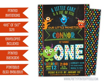 Monster Invitations - Monster Birthday Invitation - Monster Party - Monster Invite - Monster 1st Birthday Invitation - 2nd 3rd 4th 5th any