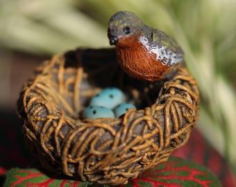 Fairy Garden  - Birds Nest - Miniature