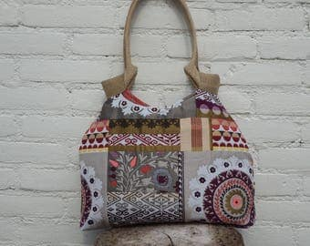 Tote bag Ibiza style, trendy shoulder bag, funky bag, gobelin handbag, tapestry bag, gobelin tote bag, trendy tote bag, upholstery tote bag