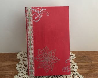 Ponsettia Christmas Journal | Junk Journal | Scrapbook | Memory Keeping | Diary