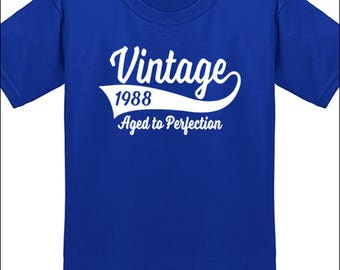 30th Birthday T Shirt Vintage 1988 T-Shirt Milestone Birthday Party Gift