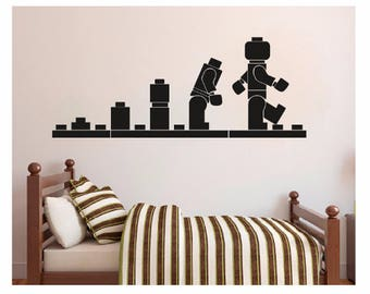 Lego wall decal etsy for Decoration chambre lego