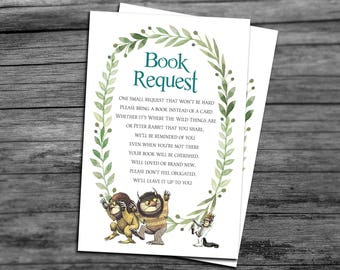 Books For Baby Cards for Where the Wild Things Are Baby Shower