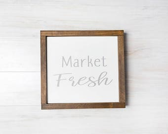 Farmhouse Signs- Market Fresh Sign- Farmhouse Kitchen Decor- Rustic Kitchen Decor, Housewarming Gift, READY TO SHIP