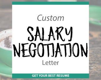 Professionally Written Salary Negotiation Letter