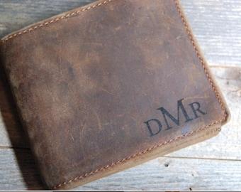 Leather wallet, men's leather wallet, cowhide leather wallet, distressed leather wallet, leather wallet