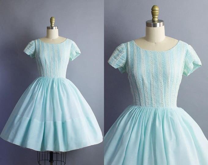 1950s Cotton Dress/ Small (34b/25w)