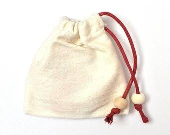 Beige cotton DrawString bag/pouch