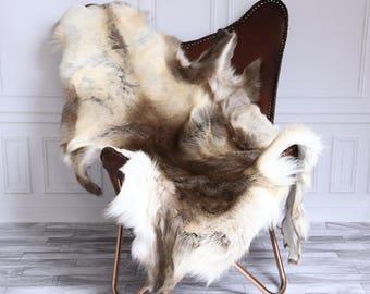 Reindeer Hide | Reindeer Rug | Reindeer Skin | Throw XL Large - Scandinavian Style #15RE23