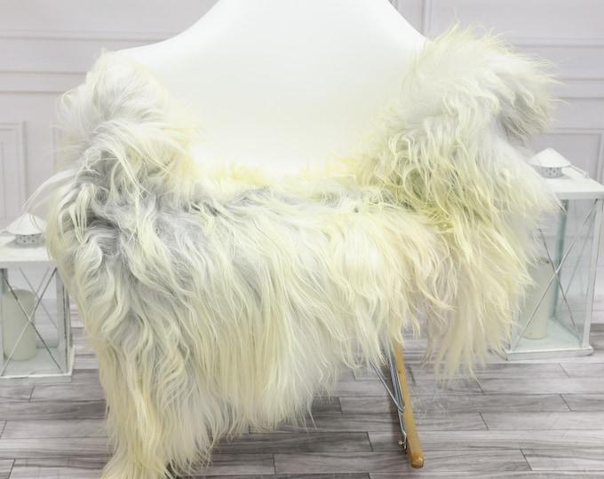 Icelandic Sheepskin | Real Sheepskin Rug | Grey Ivory Sheepskin Rug | Fur Rug | Christmas Decorations #islsept27