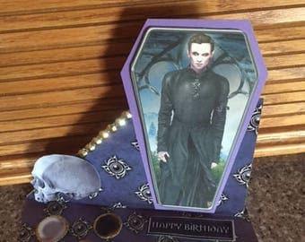 Custom Easel Twilight Vampire Birthday card with envelope
