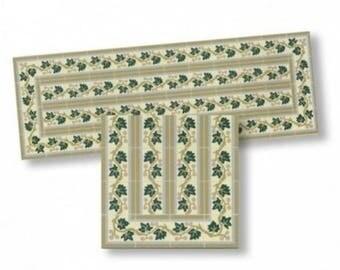 1/12th scale miniature dollhouse World&Miniatures mosaic border tiles 34172
