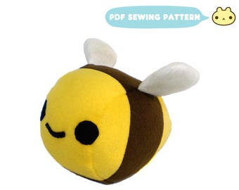 Sewing Pattern pdf, Bee Plush Sewing Pattern, Plush Bumble Bee, Stuffed Animal PDF, Download Sewing Pattern, Bee Sewing, Bumble Bee Sewing